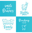 set of dentistry posters for a dental clinic vector image