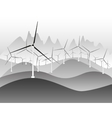 Wind electricity generators and windmills vector image