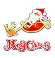 036 Merry Christmas Santa and christmas text 002 vector image