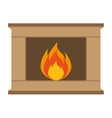 chimney flame isolated icon vector image