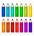 Pencil set Color vector image vector image