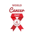 World Cancer Day greeting emblem vector image