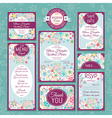 floral wedding cards vector image