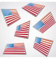 perspective USA flag vector image vector image