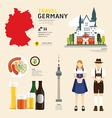 Travel Concept Germany Landmark Flat vector image vector image