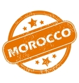 Morocco grunge icon vector image
