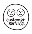 Doodle Customer Service icon vector image