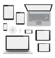 Laptops tablets and smartphones vector image
