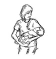 Asian mother and baby vector image