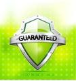 Eco friendly guarantee shield vector image