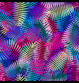 exotic leaves bright colors seamless pattern vector image
