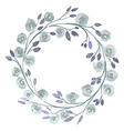 Grey Flower watercolor wreath for beautiful design vector image