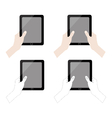 hands holding tablet collection vector image