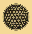 icon in flat design golf ball vector image