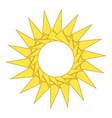 origami sun icon cartoon style vector image
