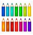Pencil set Color vector image