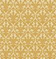 Seamless floral damask background antique vector image
