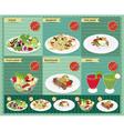 Set of food menu retro style template vector image