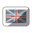 sticker flag united kingdom with opaque grunge vector image