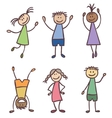 Children hand drawn set vector image