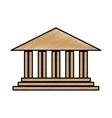 Academic building icon vector image