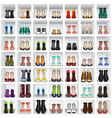 shoes on shelves of shop vector image vector image