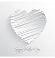 scribble heart vector image vector image