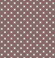 brown background fabric with white crosses vector image vector image