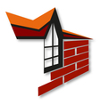 Symbol for the construction and sale of housing vector image vector image