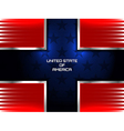 american flag cross background vector image