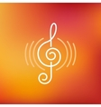 musical logo and icon in outline style vector image