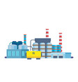 oil producing plant with storage of production vector image
