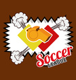 soccer desing vector image