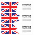 united kingdom flag banners collection vector image