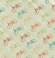 Vintage background with bicycles silhouettes vector image