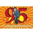 Congratulations 95 anniversary event celebration vector image