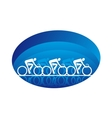 Abstract three racing cyclists isolated on white vector image