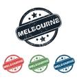 Round Melbourne city stamp set vector image