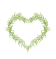 Green Leaves Forming in A Heart Shape vector image