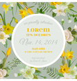 Baby Arrival or Shower Card - with Spring Flowers vector image