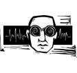 Sound Head vector image vector image