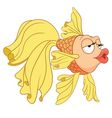 cute cartoon goldfish vector image