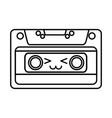 cute kawaii cartoon cassette vector image