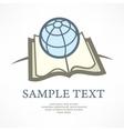 Globe on book vector image