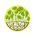 Logo Healthy Food sprouts vector image