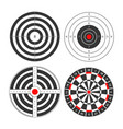 shooting range targets icons template for vector image