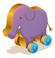 Wooden toy vector image