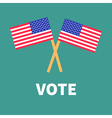 President election day Voting concept Two crossed vector image