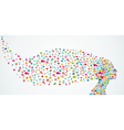 Human head shape social media icons composition vector image