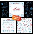 Big set of hand drawn love elements vector image